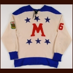 "Early 1960's Manitoba All Star Game Worn Wool Jersey – ""Manitoba"""