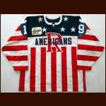 "2000-02 Norm Milley Rochester Americans Game Worn Jersey - ""Frontier DSL"" - Team Letter"