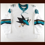 2018-19 Tomas Hertl San Jose Sharks Game Worn Jersey - Game 6 Double OT Goal vs VGK – Photo Match