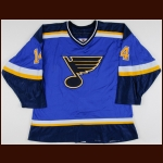1998-99 Geoff Courtnall St. Louis Blues Game Worn Jersey