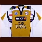 2009-10 Ryan Jorde Newcastle Vipers Game Worn Jersey – Elite League Letter