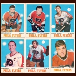 1970-71 OPC Philadelphia Flyers Autographed Card Group of 13