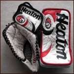 1999-00 Martin Brodeur Devils Game Worn Goalie Gloves - Photo Match - Stanley Cup Season