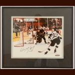 Wayne Gretzky Los Angeles Kings Autographed Matted and Framed Display – Goal #802 – Upper Deck Authenticated COA