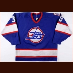 1990-91 Bob Essensa Winnipeg Jets Game Worn Jersey