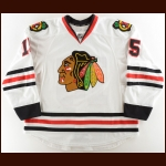 2015-16 Artem Anisimov Chicago Blackhawks Game Worn Jersey – Photo Match – Team Letter