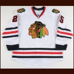 2012-13 Victor Stalberg Chicago Blackhawks Stanley Cup Season Game Worn Jersey - Photo Match – Team Letter