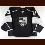 2013-14 Martin Jones Los Angeles Kings Game Worn Jersey – Rookie - Stanley Cup Season - Photo Match – Team Letter