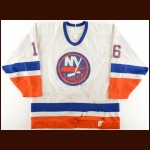1987-88 Pat LaFontaine New York Islanders Game Worn Jersey – 1st All Star Season – Photo Match – The Terrence Murphy Collection – Joe Murphy Letter