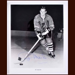 Pit Martin Chicago Black Hawks Autographed 8x10 B&W Photo - Deceased