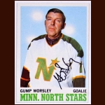 "1970-71 Topps Lorne ""Gump"" Worsley Minnesota North Stars - Autographed - Deceased"