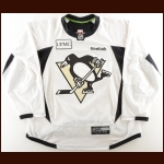 2012 Eric Tangradi Pittsburgh Penguins Practice Worn Jersey – Team Letter