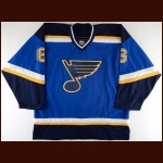 2002-03 Tom Koivisto St. Louis Blues Pre-Season Game Worn Jersey - Photo Match