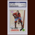 Ted Harris 1969 Topps – Montreal Canadiens – Autographed – PSA/DNA