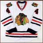 2010-11 Niklas Hjalmarsson Chicago Blackhawks Game Worn Jersey - Team Letter