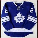 2011-12 Luke Schenn Toronto Maple Leafs Game Worn Jersey - Alternate