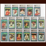 1979-80 Topps Autographed Card Group of (17) – Includes Hall of Famer – All GAI Certified