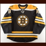 2010-11 Marc Savard Boston Bruins Game Worn Jersey – Stanley Cup Season – Photo Match – Team Letter