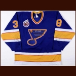 1992-93 Igor Korolev St. Louis Blues Game Worn Jersye – Rookie - Photo Match - Member of the 2011 Lokomotiv Tragedy