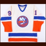 1984-85 Butch Goring New York Islanders Game Worn Jersey - Photo Match – Butch Goring Letter