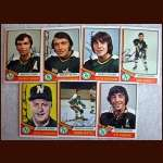 1974-75 OPC Autographed North Stars group of 7