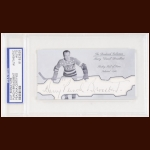 "Harry ""Punch"" Broadbent Autographed Card - The Broderick Collection - Deceased"