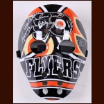 Philadelphia Flyers Autographed Goalie Mask – Signed by 6 Flyers Goalies including Bernie Parent