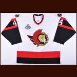 2006-07 Patrick Eaves Ottawa Senators Stanley Cup Finals Game Worn Jersey - Team Letter