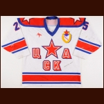 2001-02 Sergei Luchinkin UCKA Central Red Army Game Worn Jersey