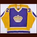1980-81 Don Luce Los Angeles Kings Game Worn Jersey - Photo Match