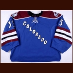 2012-13 J.S. Giguere Colorado Avalanche Game Worn Jersey – Alternate - Team Letter