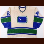 1974-75 Garry Monahan Vancouver Canucks Game Worn Jersey