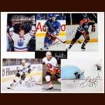 Lot of (17) 8 x 10 Color Autographed Photos - Gretzky, Messier, Kurri, Trottier and Crosby