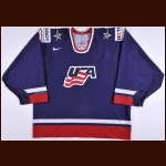 2010 Ben Bishop Team USA World Championships Game Worn Jersey – Team USA Letter