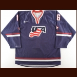 2011 Jason Zucker Team USA World Junior Championships Game Worn Jersey