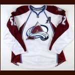 2008-09 Adam Foote Colorado Avalanche Game Worn Jersey - Photo Match - Team Letter