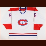 1990-91 Alain Cote Montreal Canadiens Game Worn Jersey - Retired Number