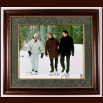 "Gordie Howe, Wayne Gretzky & Mario Lemieux ""Pond of Dreams"" Autographed Canvas – Limited Edition # 43 of 199 – WG Authentic COA"