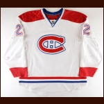 2007-08 Steve Begin Montreal Canadiens Game Worn Jersey - Photo Match