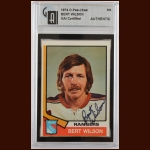 1974-75 OPC Bert Wilson New York Rangers Autographed Card – Deceased – GAI Certified