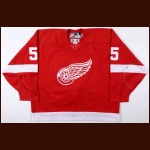 1998-99 Larry Murphy Detroit Red Wings Game Worn Jersey - Photo Match