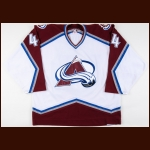 2006-07 Jordan Leopold Colorado Avalanche Game Worn Jersey – Team Letter