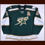 2007-08 James Neal Iowa Stars Game Worn Jersey - Team Letter