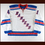 2009-10 Brodie Dupont New York Rangers Pre-Season Game Worn Jersey – Team Letter