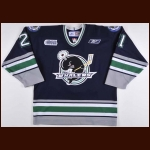 "2005-06 Tom Sestito Plymouth Whalers Game Worn Jersey – ""Compuware Sports Arena 10-year Anniversary"""