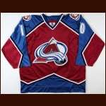 1997-98 Josef Marha Colorado Avalanche Game Worn Jersey - Team Letter