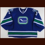 2015-16 Jacob Markstrom Vancouver Canucks Game Worn Jersey – Alternate - Photo Match – Barehanded Save Jersey - Team Letter