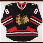 2008-09 Patrick Kane Chicago Blackhawks Game Worn Jersey - Photo Match - Team Letter