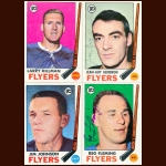 1969-70 Topps Philadelphia Flyers Autographed Card Group of 10 – Reg Fleming (Deceased)