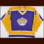 1981-82 Charlie Simmer Los Angeles Kings Game Worn Jersey - Photo Match - The New England Collection